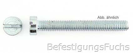 Zylinderschraube mit Schlitz DIN 84