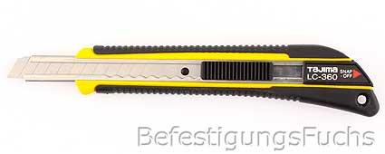 Tajima Premium Cuttermesser GRI mit Elastomer Griff 9mm