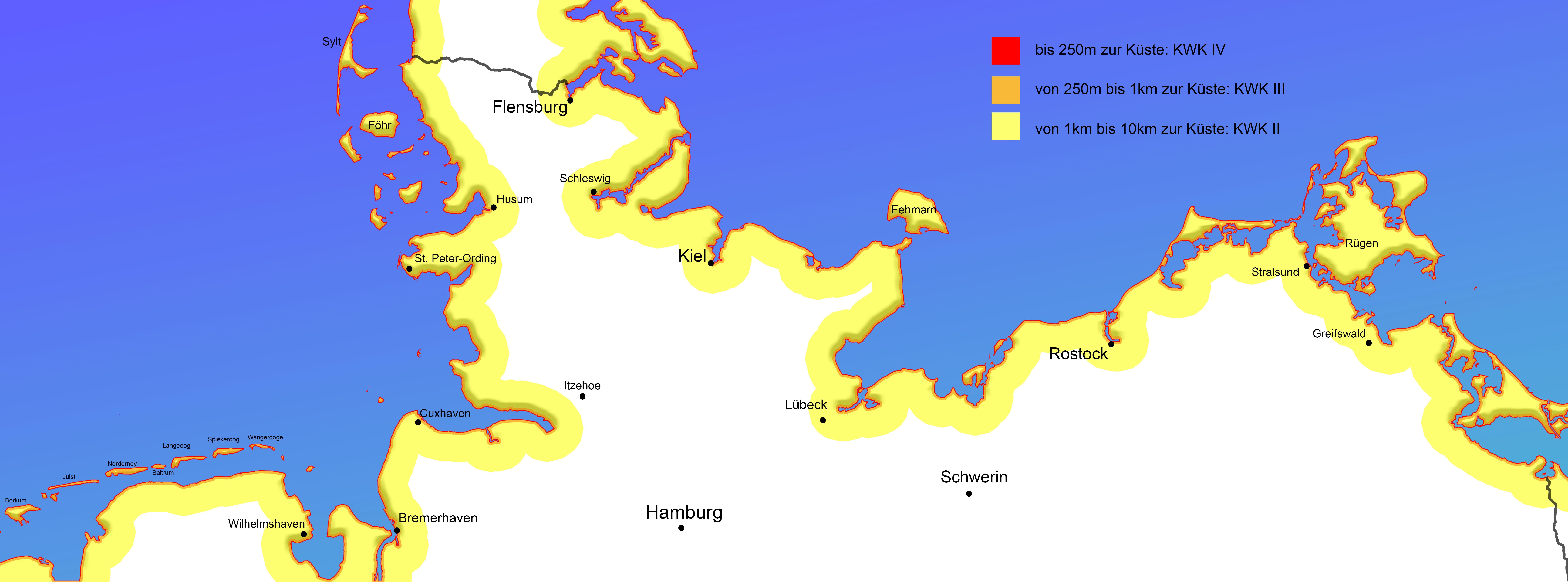 Gesamtübersicht Deutsche Küsten