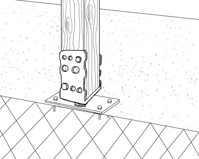 pfosten sicher befestigen pfostentr ger und ihre. Black Bedroom Furniture Sets. Home Design Ideas