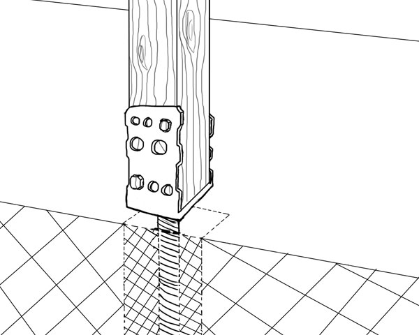 pfosten sicher befestigen pfostentr ger und ihre eigenschaften. Black Bedroom Furniture Sets. Home Design Ideas