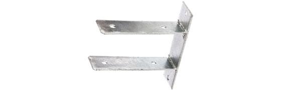 Pfostenträger mit Wulst Sicke für Pfosten 9x9 cm feuerverzinkt Träger Zaunbau
