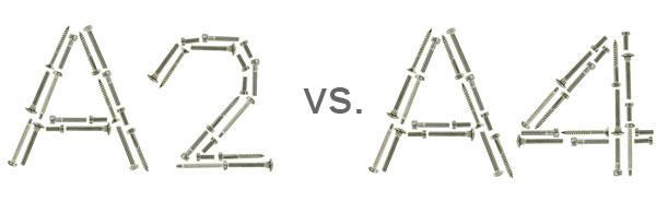 Edelstahl A2 versus A4 Schrauben