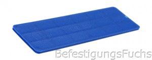 Blauer Verglasungsklotz mit 2 mm Dicke