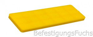 Gelber Verglasungsklotz mit 4 mm Dicke