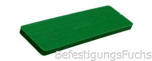 Grüner Verglasungsklotz mit 5 mm Dicke