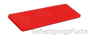 Roter Verglasungsklotz mit 3 mm Dicke