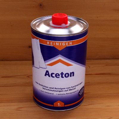Ein Acetonbehälter