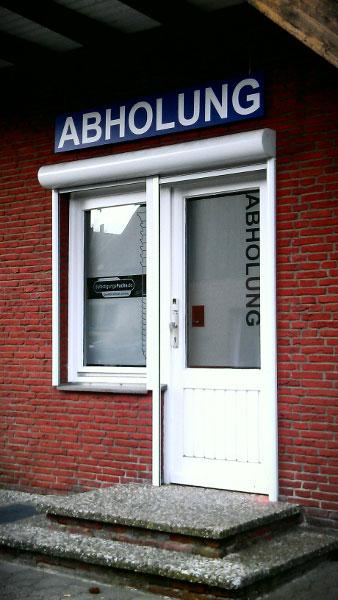 Tür für die Abholung
