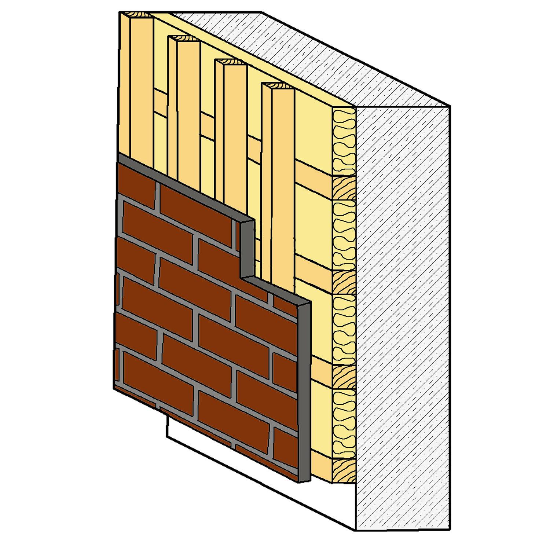 Eine hinterlüftete Fassade mit Holzunterkonstruktion