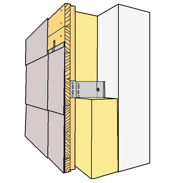 Eine hinterlüftete Fassade mit Metallunterkonstruktion