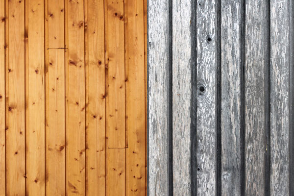 Warum wird Holz grau?
