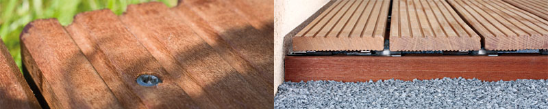 Die Holzterrasse: Teil 3 – Die Befestigung