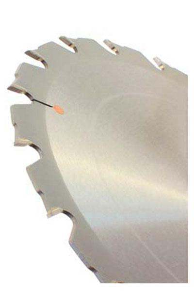 Schrägansicht eines Tischkreissägeblattes