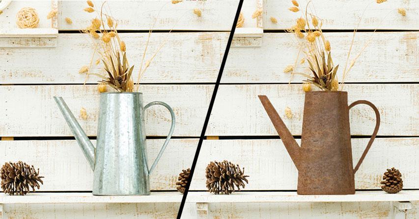 edelrost antiklook zum selbermachen der heimwerker handwerker blog vom befestigungsfuchs. Black Bedroom Furniture Sets. Home Design Ideas