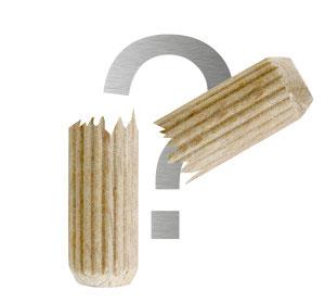 Holzdübel gebrochen?