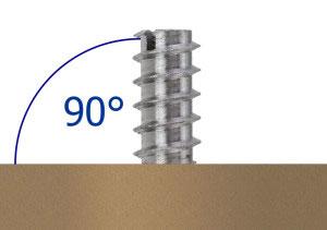 Einschraubmutter mit 90° Winkel