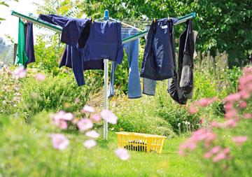 Wie befestigt man Wäschespinnen?