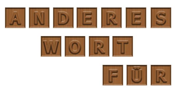 Ein anderes Wort für Textgrafik