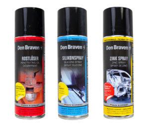 Drei Sprays zur Werkzeugpflege