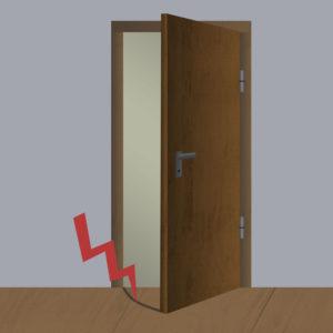 Tür schleift auf Boden