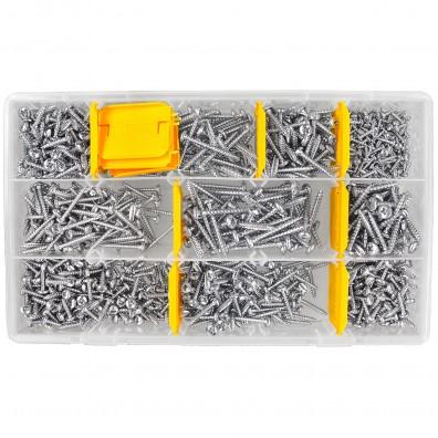 1000 tlg Spannplattenschrauben Sortiment - Pan Head - galvanisch verzinkt