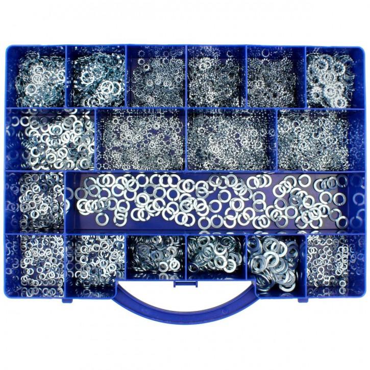 2750 tlg Federringe Zahn-Fächerscheiben Sortiment DIN 127-6797-6798 M4 bis M10