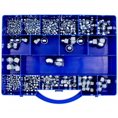 544 tlg Hutmuttern Sortiment DIN 917-1587 verzinkt M4 bis M20