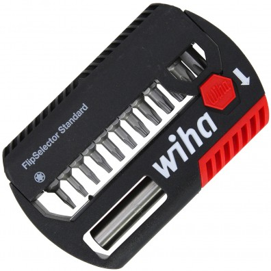 13-tlg. Wiha FlipSelector Standard, Bithalter, TORX® TX7 - TX 40 Bits