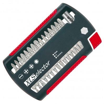31-tlg. Wiha XLSelector Standard, gemischt, Bithalter, PH-,PZ-,TX-,SI- Bits