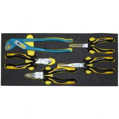 1 Zangensatz, 5 teilig Wasserpumpen-, Flach-, Rund-, Kombizange, Seitenschneider