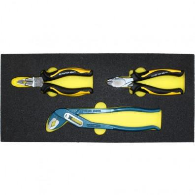 1 Zangensatz, 3 teilig Wasserpumpen- und Kombizange, Seitenschneider