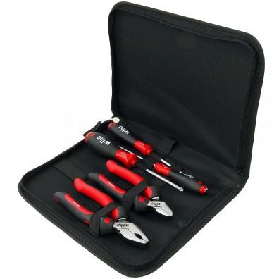 5-tlg. Wiha Werkzeugsatz Industrial Mix mit Zangen und Schraubendrehern