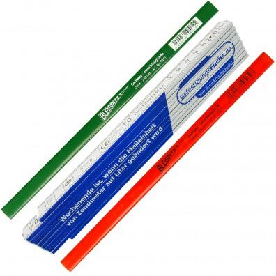 3 tlg  Zollstock und Bleistift - Sortiment