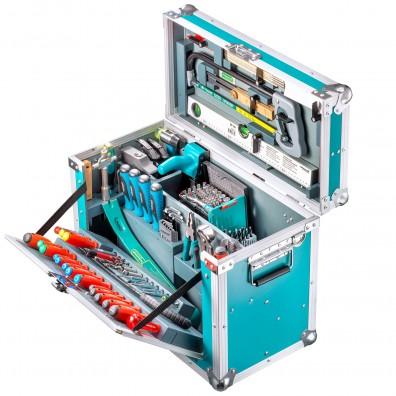 1 Werkzeugkiste Leichtbau, 179 tlg. Stabile Arbeitsbox, für feine Holzarbeiten