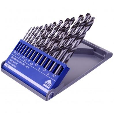 13 tlg KEIL Metall Spiralbohrer Set DIN 338 HSS-G 1,5-6,5mm - Kunststoffkassette
