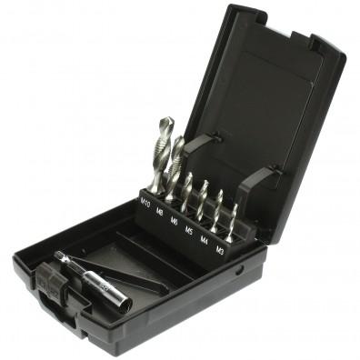 7 tlg Exact Sortiment Kombi-Bit SGE Rosebox + Adapter HSS M3-M10