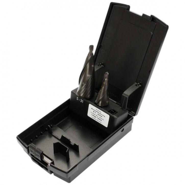 2tlg Exact Sortiment Blechschälbohrer HSS TIALN Gr.2 5-31mm