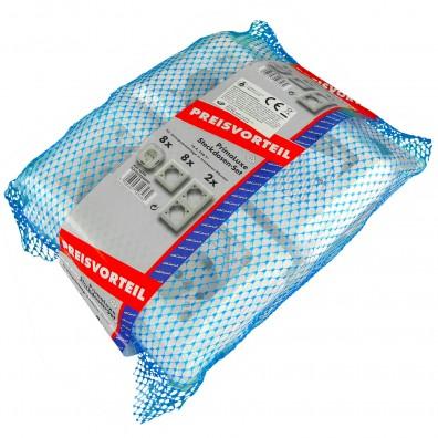 1 Sortiment Primaluxe 8x Steckdosen,weiß , mit verschiedenen Rahmen