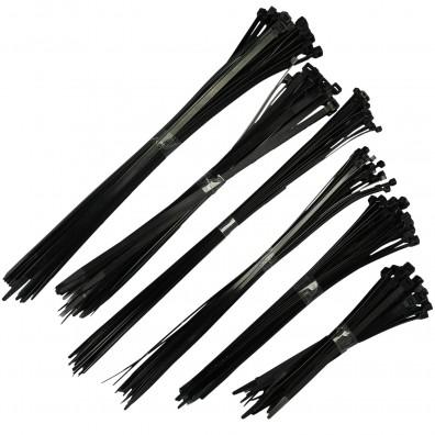 150 tlg. Kabelbinder Sortiment, schwarz, von 4,8 x 368 mm bis 8,0 x 450 mm