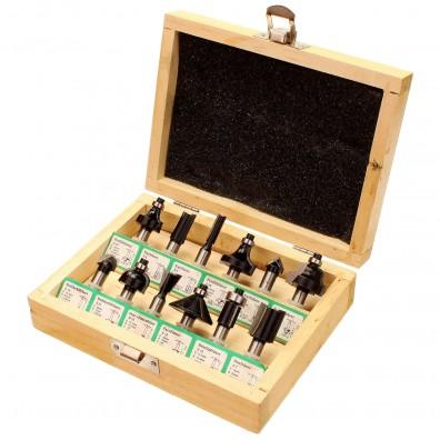 12 tlg. EDESSÖ Fräser-Set - unterschiedliche Fräser - 8 mm Schaftdurchmesser