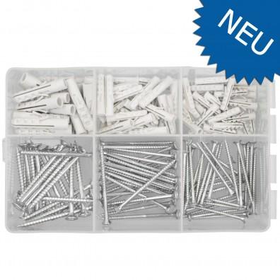 150 tlg Schrauben und Dübel Sortiment - 5, 6 und 8 mm Ø-Dübel