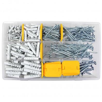 420 tlg Schrauben und Dübel Sortiment mit  5, 6, 8 und 10 mm Dübel-Ø