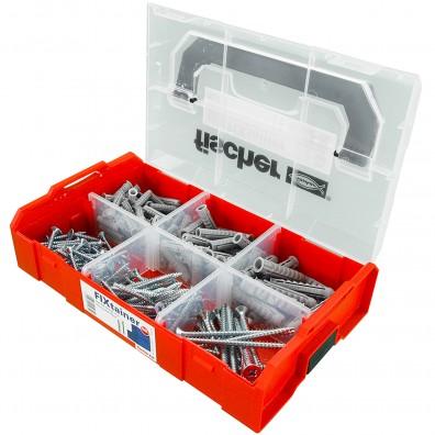 210 tlg. FISCHER FIXtainer SX Spreizdübel-Set 6-8-10 mm mit Schrauben 4,5-5-6 mm