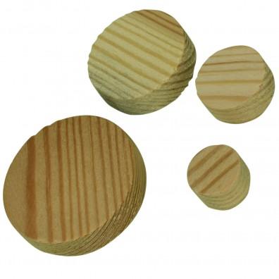 460 tlg. Kiefer- Konusplättchen Set, 15/20/30/40 mm, Dicke 10 mm