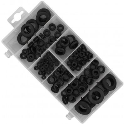 110 teiliges Gummi - Durchgangstüllen Sortiment, verschiedene Größen