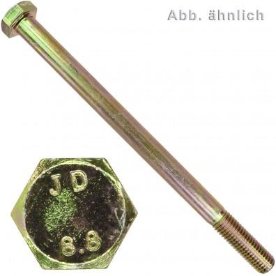 Sechskantschrauben DIN 931 - galvanisch verzinkt - Festigkeitsklasse 8.8 - gelb chromatiert