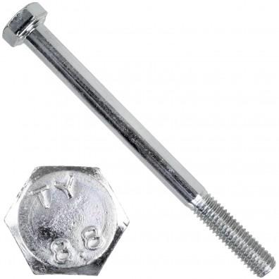 200 Sechskantschrauben DIN 931 - M5 x 60mm - verzinkt - Festigkeitsklasse 8.8