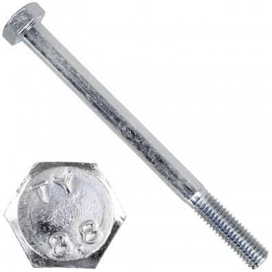 200 Sechskantschrauben DIN 931 - M5 x 65mm - verzinkt - Festigkeitsklasse 8.8