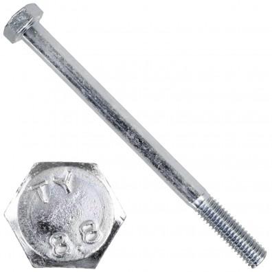 200 Sechskantschrauben DIN 931 - M5 x 70mm - verzinkt - Festigkeitsklasse 8.8